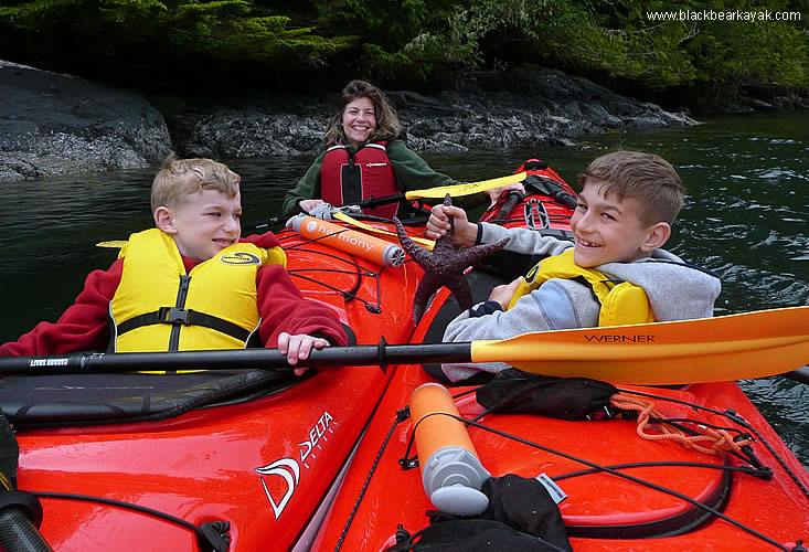 kayaking day tours in Tofino